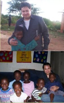 (top): My first trip to Zambia. (bottom): My first trip to Kenya.