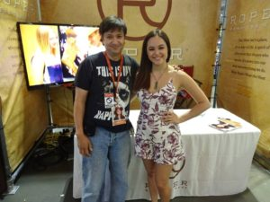 "CMAFest allowed me to meet a star of ABC's ""The Goldbergs"", Hayley Orrantia"